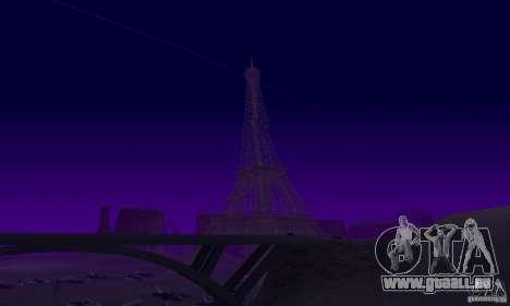 La tour Eiffel depuis Call of Duty : Modern Warf pour GTA San Andreas cinquième écran