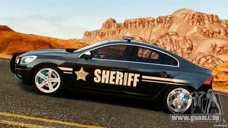 Volvo S60 Sheriff pour GTA 4 est une gauche