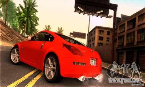Nissan 350Z Tunable pour GTA San Andreas laissé vue