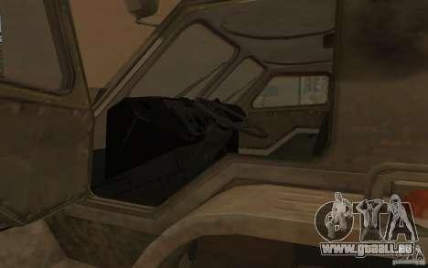 GAS-3937 Vodnik für GTA San Andreas Innenansicht