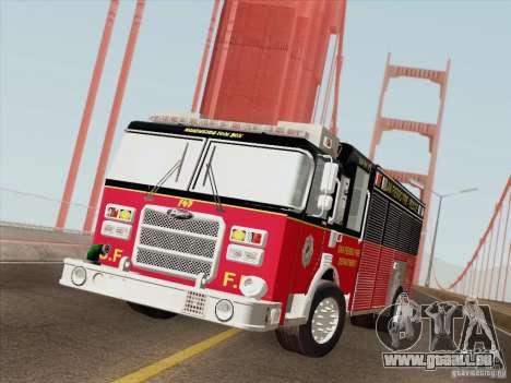 Pierce SFFD Rescue pour GTA San Andreas vue de côté