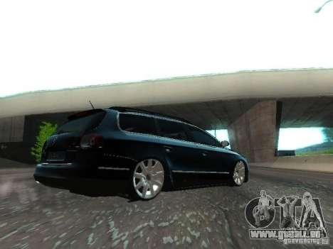 Volkswagen Passat B6 Variant Com Bentley 20 Fixa pour GTA San Andreas vue arrière