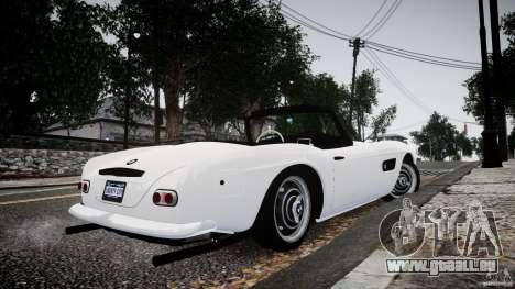 BMW 507 1959 pour GTA 4 est une gauche