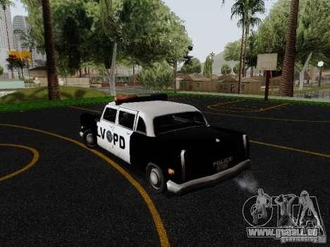 Cabbie Police LV pour GTA San Andreas sur la vue arrière gauche