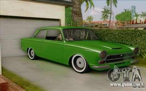Lotus Cortina MK1 pour GTA San Andreas laissé vue