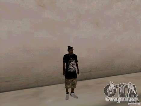 Guy noir pour GTA San Andreas deuxième écran
