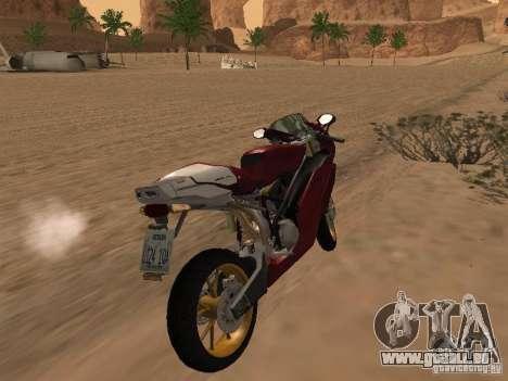 Ducati 999R für GTA San Andreas Rückansicht