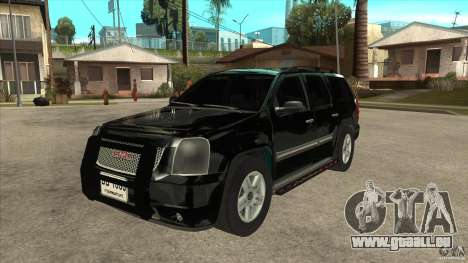 GMC Yukon Unmarked FBI pour GTA San Andreas