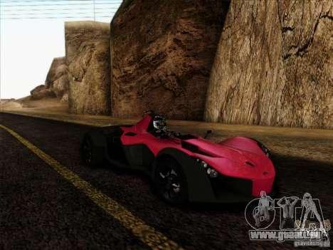 BAC MONO für GTA San Andreas zurück linke Ansicht
