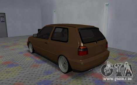 Volkswagen Golf Mk3 für GTA San Andreas rechten Ansicht