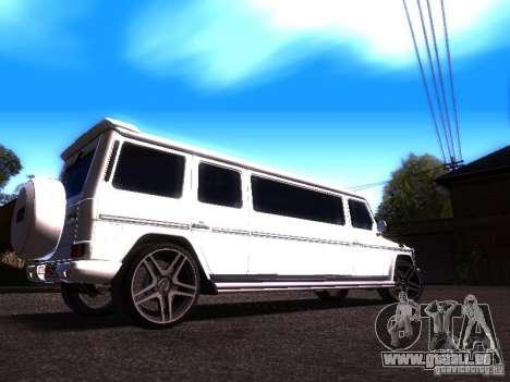 Mercedes-Benz G500 Limousine pour GTA San Andreas vue de droite