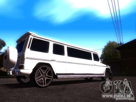 Mercedes-Benz G500 Limousine für GTA San Andreas rechten Ansicht