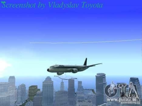 Airbus A320-214 Alitalia v.1.0 pour GTA San Andreas vue de dessus