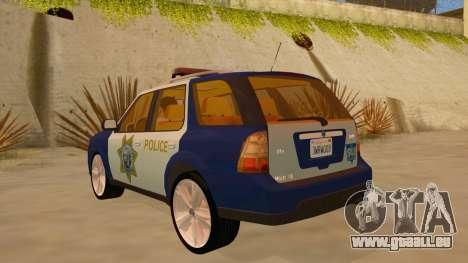 Saab 9-7X Police pour GTA San Andreas sur la vue arrière gauche