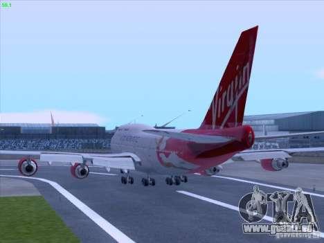 Boeing 747-4Q8 Lady Penelope für GTA San Andreas Rückansicht
