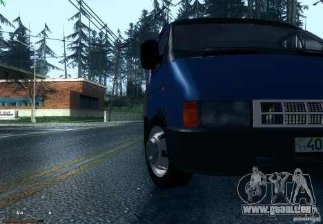 Gazelle 33021 pour GTA San Andreas sur la vue arrière gauche