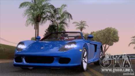 Porsche Carrera GT Custom pour GTA San Andreas sur la vue arrière gauche