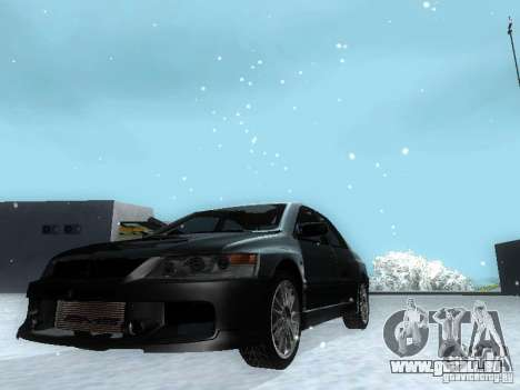 Mitsubishi Lancer Evo IX MR Evolution für GTA San Andreas zurück linke Ansicht