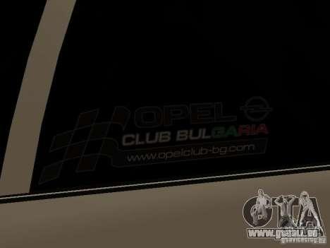 Opel Vectra B für GTA San Andreas zurück linke Ansicht