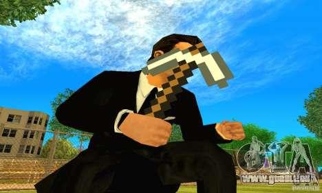 Relever le jeu Minecraft pour GTA San Andreas deuxième écran