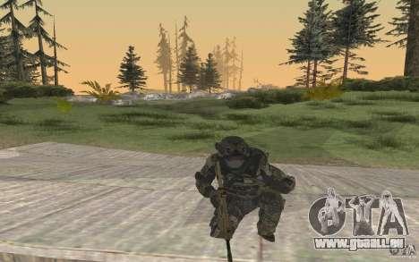 Seals soldier from BO2 pour GTA San Andreas troisième écran