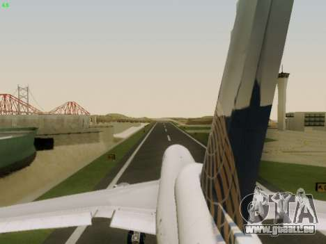 McDonell Douglas DC-10-30 Continental für GTA San Andreas obere Ansicht