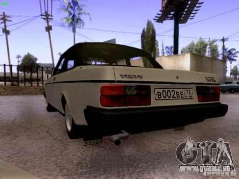 Volvo 242 Turbo pour GTA San Andreas sur la vue arrière gauche
