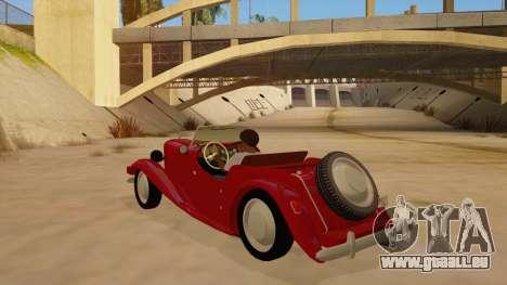MG Augest für GTA San Andreas zurück linke Ansicht