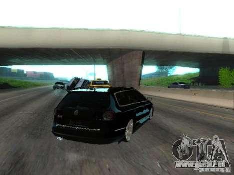 Volkswagen Passat B6 Variant Com Bentley 20 Fixa pour GTA San Andreas sur la vue arrière gauche