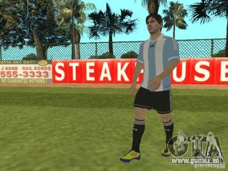 Lionel Messi pour GTA San Andreas deuxième écran