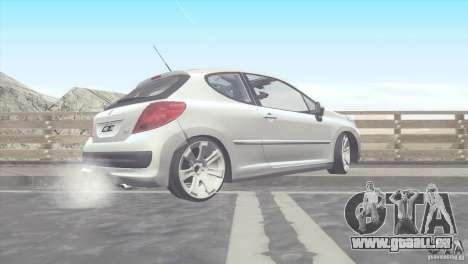 Peugeot 207 RC pour GTA San Andreas laissé vue