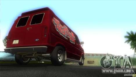 Ford E-150 Gang Burrito pour une vue GTA Vice City de la droite
