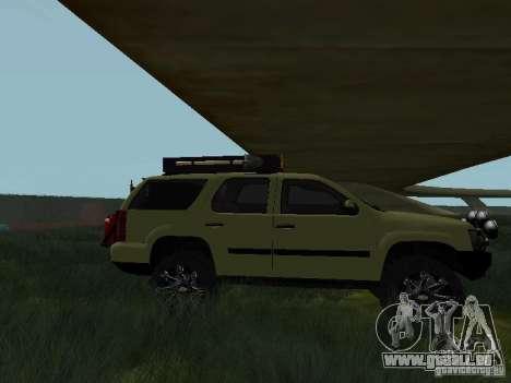 Chevrolet Tahoe Off Road pour GTA San Andreas laissé vue