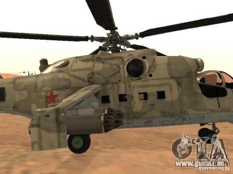 Mi-24p für GTA San Andreas Seitenansicht
