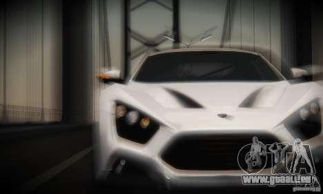 Zenvo ST1 2010 pour GTA San Andreas vue intérieure