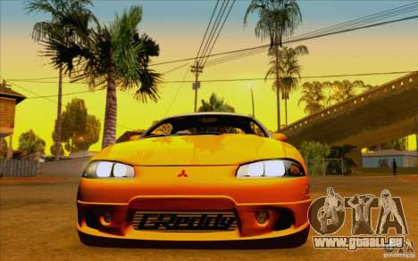 Mitsubishi Eclipse GSX Mk.II 1999 für GTA San Andreas zurück linke Ansicht