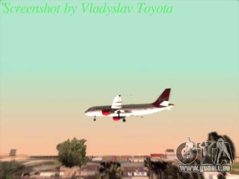 Airbus A320-211 Virgin Atlantic für GTA San Andreas Innenansicht