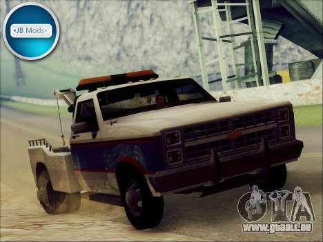 New Towtruck pour GTA San Andreas sur la vue arrière gauche