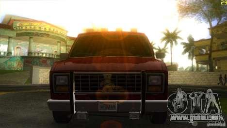 Ford E-150 Gang Burrito pour GTA Vice City sur la vue arrière gauche