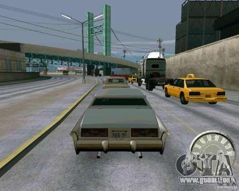 Compteur de vitesse Mustang classique pour GTA San Andreas troisième écran
