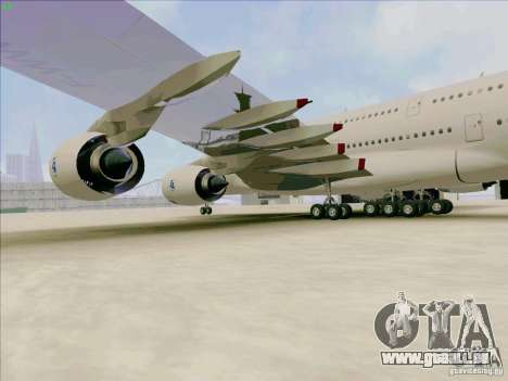 Airbus A380-800 für GTA San Andreas Rückansicht