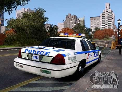 Ford Crown Victoria NYPD pour GTA 4 est une gauche