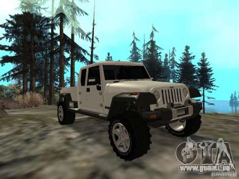 Jeep Gladiator pour GTA San Andreas