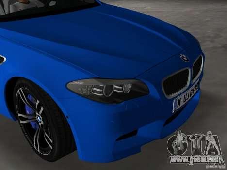 BMW M5 F10 2012 pour GTA Vice City vue latérale