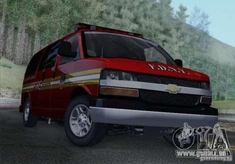 Chevrolet Express Special Operations Command für GTA San Andreas zurück linke Ansicht
