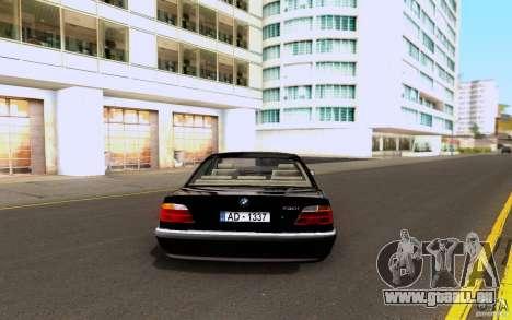 BMW 730i E38 FBI pour GTA San Andreas vue de droite