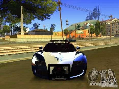 Bugatti Veyron Federal Police für GTA San Andreas Rückansicht