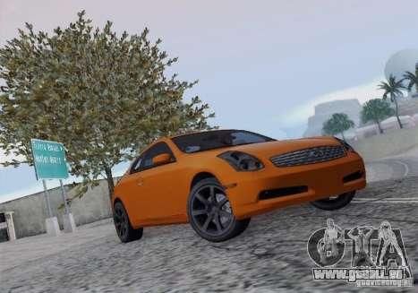 Infiniti G35 für GTA San Andreas Innenansicht