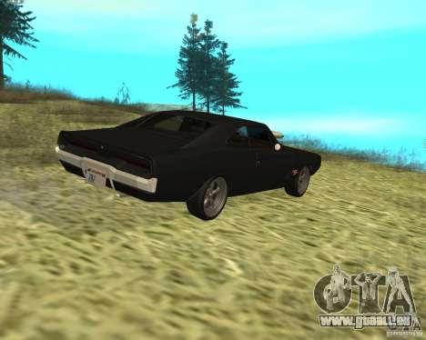 Dodge Charger R/T 1970 pour GTA San Andreas vue arrière