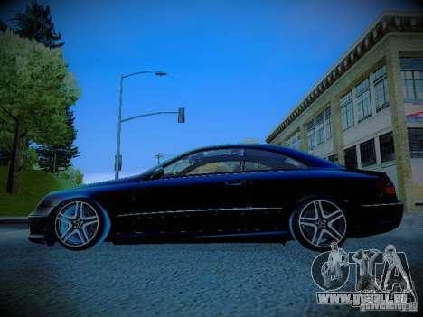 Mercedes-Benz CLK 55 AMG Coupe für GTA San Andreas linke Ansicht
